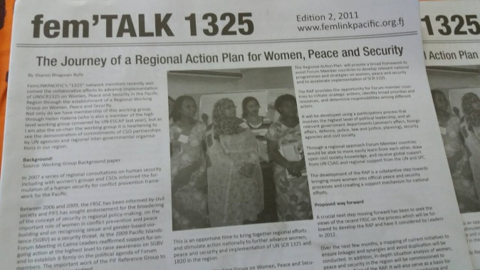 CRT Ed2 2011 - Regional Action Plan for Women, Peace and Security
