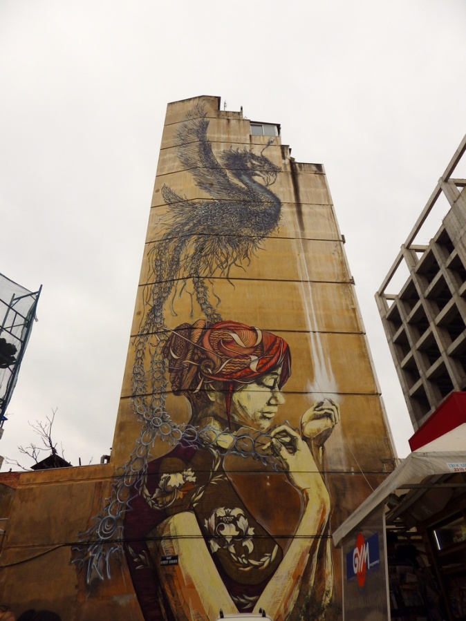 In 2011 the Face Art Public Mural Project commissioned wall art during the 15th Biennial of Young Artists in Thessaloniki, Greece.