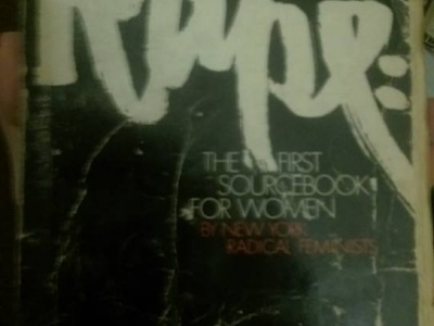 Cover of book called Rape: The First Sourcebook for Women
